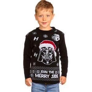Détails sur Noël Star Wars Kids Vador Noël Pull Tricot Pull Enfants Pull afficher le titre d'origine