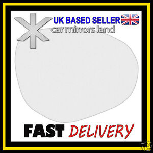Right Driver Wing Mirror Glass Replacement MAZDA 2 2008 ONWARDS Stick ON