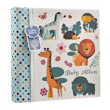 """Baby Boy Blue MEMO album fotografico 4 x 6"""" per le foto 200 WOODLAND ANIMALS ba-1607"""