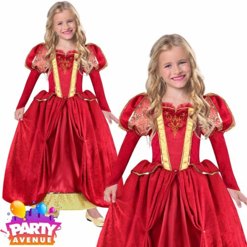 Girl Medieval Queen Costume Child Fairytale Tudor Historical Fancy Dress 3-5yrs