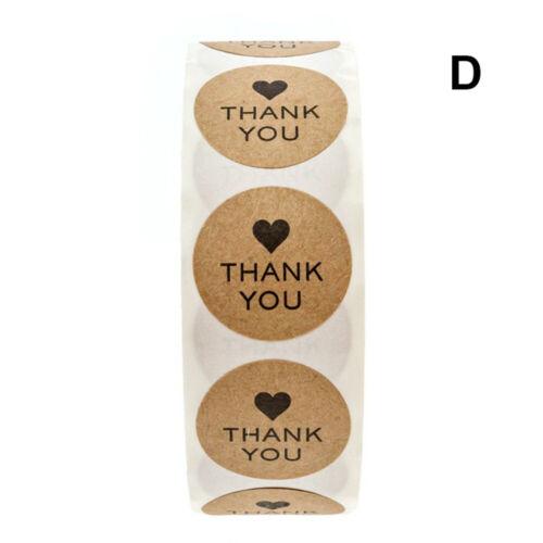 Dank Kennzeichnung der Verpackung Tag der Versiegelung Aufkleber für Kraft