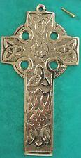 IRISH BRASS LARGE SIZED TRINITY KNOT CELTIC CROSS IRELAND GIFT BOXED