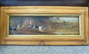 Antique-oil-painting-Hunting-dogs-framed-1889-Captain-Alex-McDonnell-Moore-89th