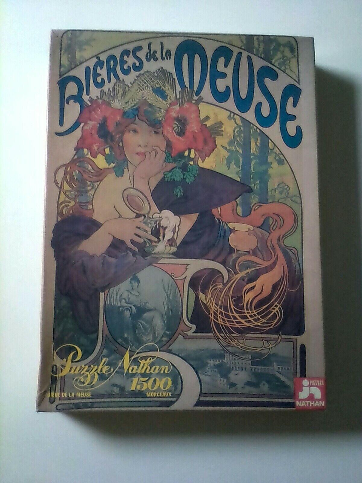 Puzzle biere de la meuse rare 1500 pieces complet vintage affiche retro 8459cm