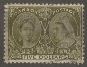 Canada 1897 #65 Diamond Jubilee Issue (Queen Victoria) F/VF Used