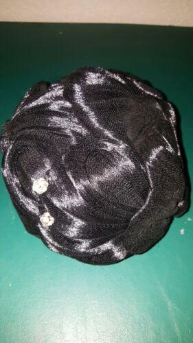 Vintage Women's Hat 40s 50s 60s Black Hair Swirl M