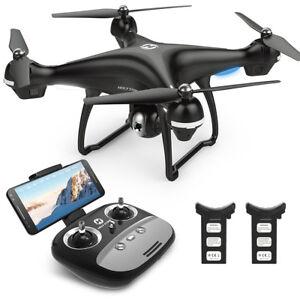 Holy-Stone-HS100-FPV-DROHNE-mit-HD-WIFI-KAMERA-GPS-Follow-Me-Selfie-2-Batterien