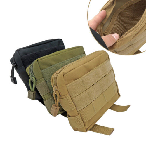Outdoor Tactical Molle Pouch EDC Multi-purpose Belt Waist Pack Bag Phone Pocket