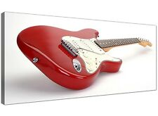 Red Cheap Canvas Wall Art of Fender Electric Guitar 1007