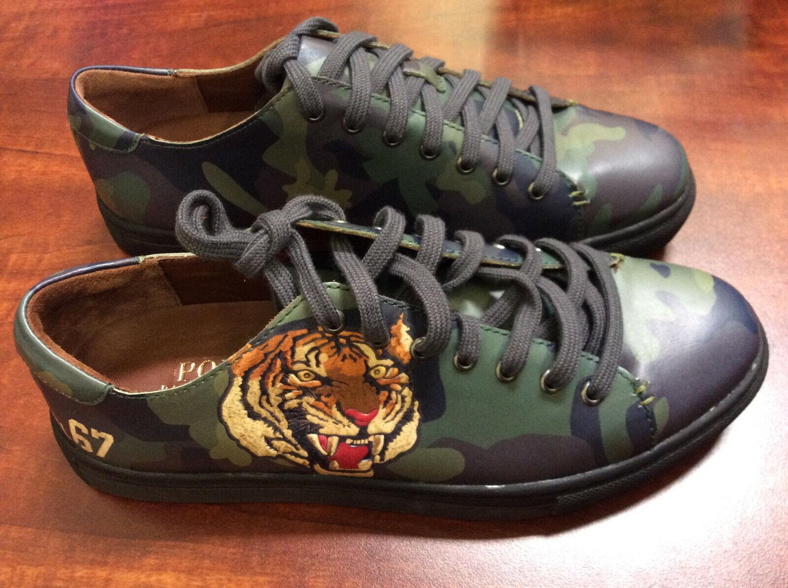 Polo Ralph Lauren Para Hombres Zapatillas de logotipo Jermain verde Tamaño nos 8.5 D