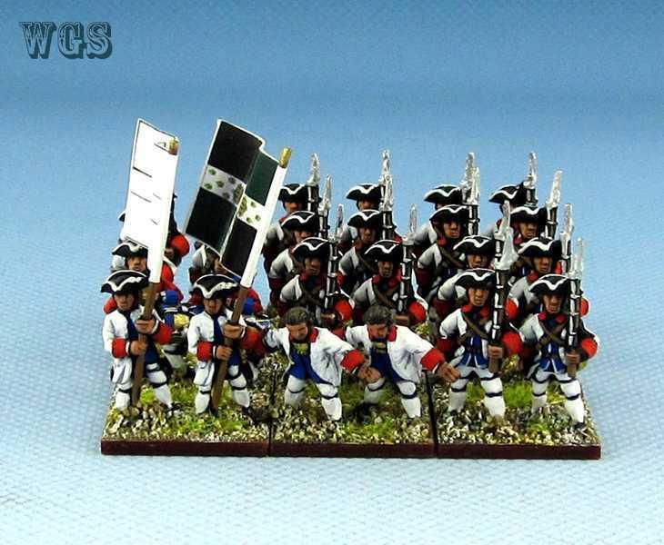 15 syw sieben jahre krieg ag malte französischen 21. la viefville regiment fa1