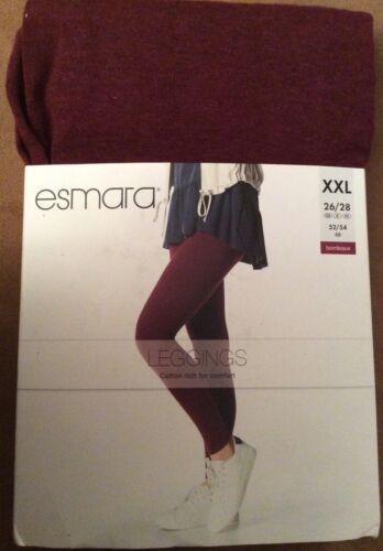 """Leggins XXL 26//28 Esmara/"""" Bordeaux/"""""""