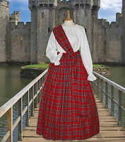 Ladies Victorian  Scottish Royal Stewart 3pc costume fancy dress 6-20