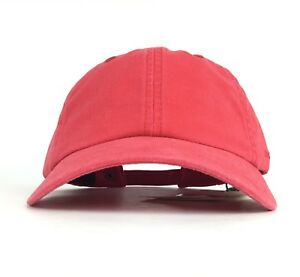 862a19b58a91 NWOT Stetson Embroidered Logo Red Baseball Cap Hat Adj Men s Cotton ...