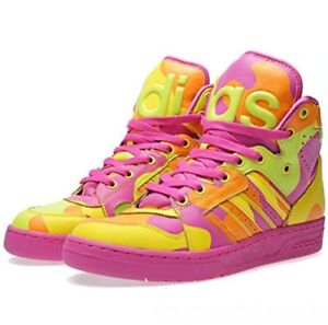 premium selection 053c1 ef8cf jeremy scott men adidas camo sneakers pink