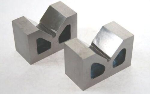 """COPPIA di ghisa Vee V blocchi 2 /"""" Alta Qualità Precision Ground"""