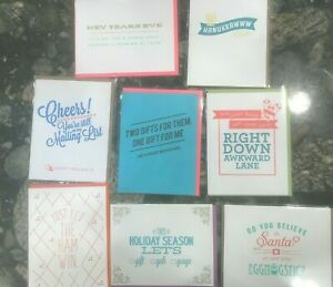 LARK PRESS GEORGE STANLEY Lot of 8 Handmade Letterpress Greeting Cards EGG