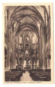"""saint-leu-d'essérent , inférieur de l'église - France - """"ICI"""" toutes les cartes postales de l'Oise - France"""