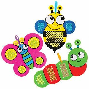5 BUG INSECT CROSS STITCH Kit BEE SNAIL LADYBIRD Kids ...