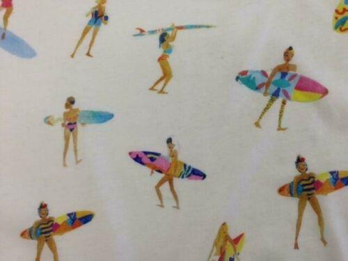 """Baumwoll-Jersey  /""""surfing girls/"""" Meterw ab 0,5 m 135 cm breit € 10,00//qm"""