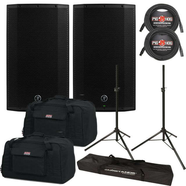Mackie Thump TH-12A 1300W Powered Speaker Pair with Gator Bags, Cables, Stands