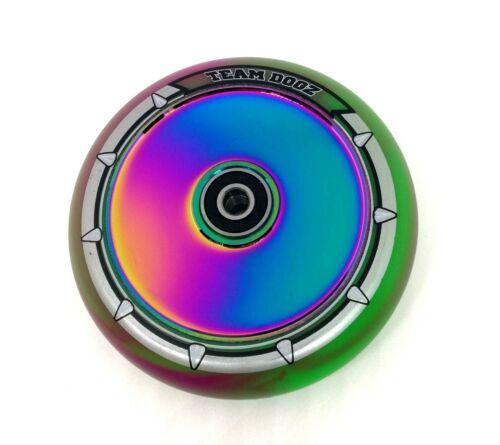 Team Dogz Neochrome Rainbow Hollow UFO Core 110mm Stunt Scooter Ruota Misto PU **