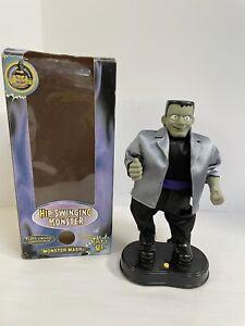 "Vintage Gemmy Animated Hip Swinging Frankenstein ""Monster Mash"" Halloween Decor"