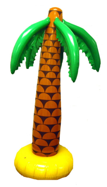 Large Inflatable Palm Tree 168cm Luau Hawaiian Summer Party Tropical Pirate