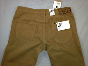 LEE-101S-L970HL9-The-Original-Slim-Rider-Broze-Brown-Denim-Jeans-Size32