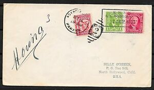 Canal Zone covers 1935 Ship PC KNSM SS BODEGRAVEN to North Hollywood