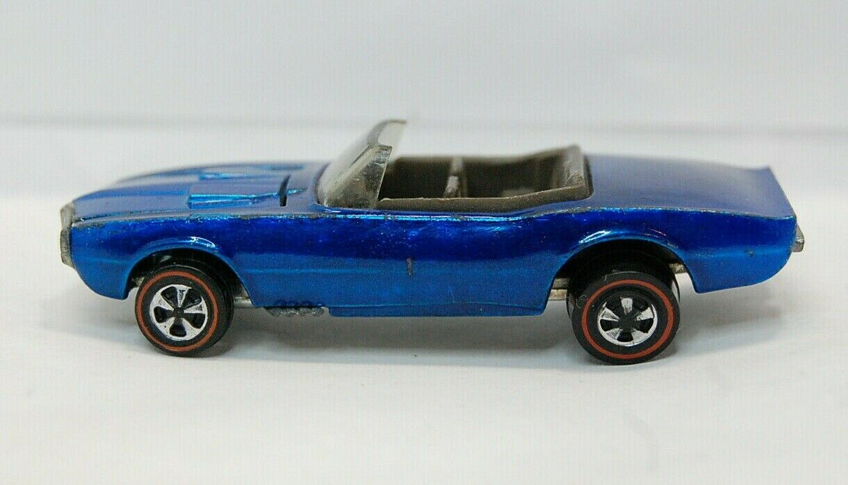 Hot Wheels Redline Custom Firebird bluee Excellent Cond. U.S.A. Base 1968