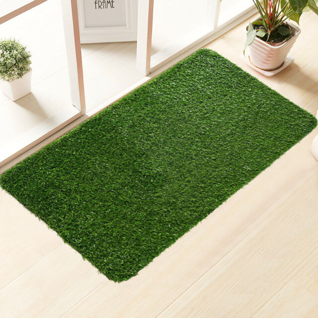 Heavy Duty Green Artificial Grass Turf Carpet Rug Welcome For Sale Online Ebay