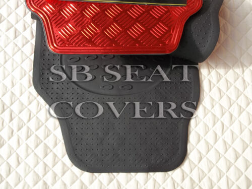 RED METALLIC PLATE PVC RUBBER MAT RM 700N TO FIT A CITROEN C4 GRAND PICASSO CAR