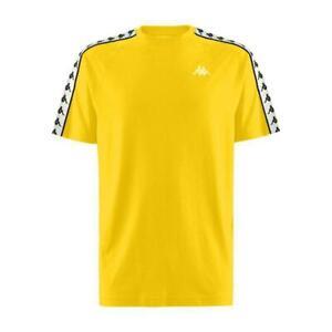 KAPPA-Coen-222-Giallo-Banda-T-shirt