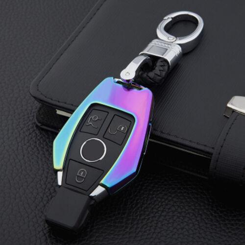 Mercedes-Benz Key Metal Chrome Case Cover Bag Car Logo Keyring Chain Colourful