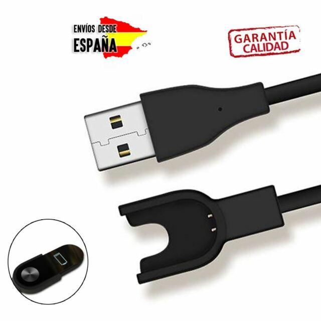 CABLE CARGADOR USB RECAMBIO PARA XIAOMI MI BAND 2 CON MUELLE FLEXIBLE