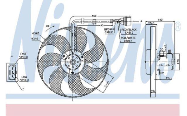 NISSENS Ventilador, refrigeración del motor VOLKSWAGEN GOLF AUDI A3 SEAT 85683