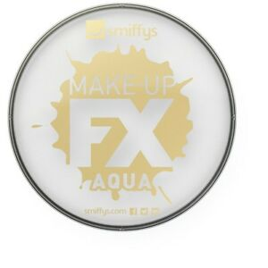 Unisex-Smiffy-039-s-Make-Up-Fx-Aqua-Face-amp-Body-Paint-White-Fancy-Dress-Stage-Fun
