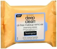 Neutrogena Deep Clean Oil-free Makeup Remover Cleansing Wipes 25 Each (5 Pack) on sale