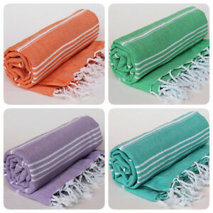 Cotton Turkish Towel Peshtemal Bath Hamam Sauna Beach Gym Pestemal Hammam