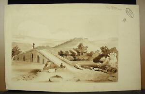 Sign-Louis-Plivard-Landscape-Mediterranean-Lavis-Original-School-Polytechnique