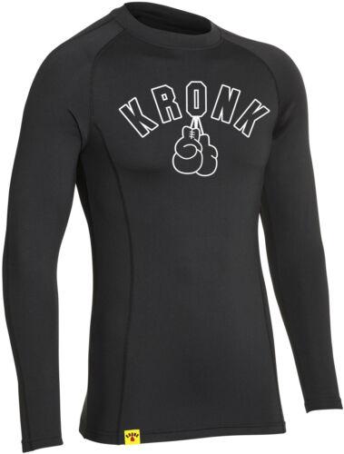 KRONK Long Sleeve Performance Baselayer Compression Wear T Shirt Black