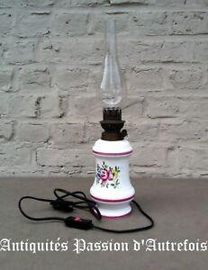 MéThodique B20171043 - Lampe électrique 43 Cm En Faïence - Tb état - Fonctionne BéNéFique Au Sperme