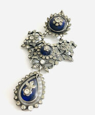 Georgian Sterling Silver  And Paste Pendant , Heavy ,925