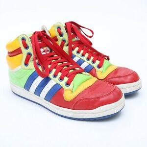 Details about Vintage Adidas Top Ten Hi Top Sneakers Size 8.5 RED BLUE GREEN YELLOW WHITE RARE