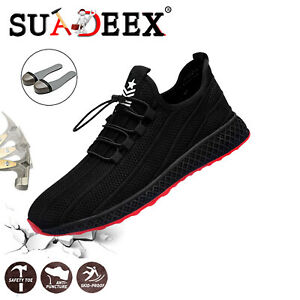 Arbeitsschuhe Sicherheitsschuhe Sportliche Stiefel Mit Stahlkappe Schutz Gr39-45