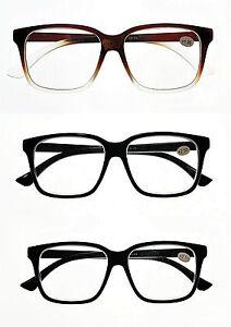 08b90b5c58 Details about Stylish Funky Bold Big Frame Retro 2018 Fashion Reading  Glasses 3 Colours TN44