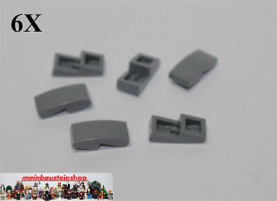 6X Lego® 11477 Bogensteine Dachsteine Slope Curved 1X2 neues Dunkelgrau Gray NEU