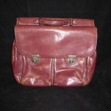 El Portal Soft Leather Messenger Briefcase Distressed Bag