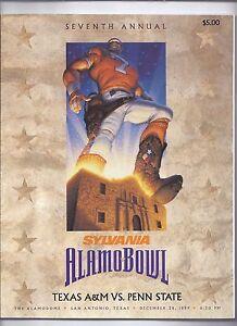 1999 Alamo Bowl Game Program Penn State Texas A & M